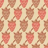 Vektornahtloser Hintergrund mit Erdbeere. Lizenzfreies Stockfoto
