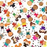Vektornahtloser Hintergrund mit Kindern Lizenzfreies Stockbild
