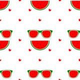 Vektornahtloser Hintergrund Nationaler Wassermelonen-Tag Stockbild