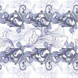 Vektornahtloser Hintergrund Schöne fantastische Blumengrenzverzierung empfindlich vektor abbildung