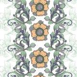 Vektornahtloser Hintergrund Schöne fantastische Blumengrenzverzierung empfindlich lizenzfreie abbildung
