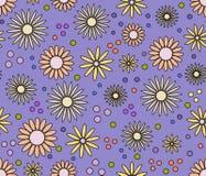 Vektornahtloser mit Blumenhintergrund Lizenzfreie Stockfotos
