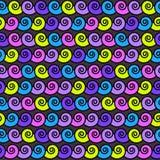 Vektornahtloses abstraktes Muster, Wellen Stockfoto