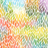 Vektornahtloses abstraktes von Hand gezeichnet Muster Lizenzfreies Stockbild