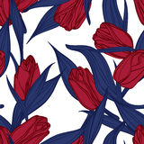 Vektornahtloses Blumenmuster Lizenzfreie Stockfotografie