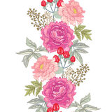 Vektornahtloses Blumenmuster Lizenzfreies Stockfoto