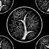 Vektornahtloses Blumenmuster Stockbild