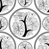 Vektornahtloses Blumenmuster Lizenzfreie Stockbilder