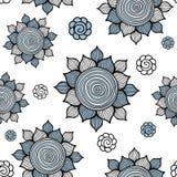 Vektornahtloses Blumenmuster Stockfotos