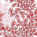 Vektornahtloses Blumenmuster mit Blättern Stockbild