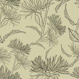 Vektornahtloses Blumenweinlesemuster Stockfoto