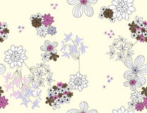 Vektornahtloses mit Blumenmuster Lizenzfreie Stockfotos