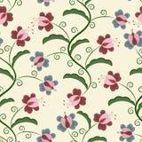 Vektornahtloses mit Blumenmuster Lizenzfreies Stockbild