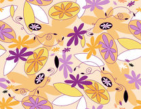 Vektornahtloses mit Blumenmuster Stockfotografie