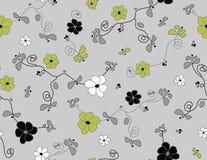 Vektornahtloses mit Blumenmuster Lizenzfreies Stockfoto