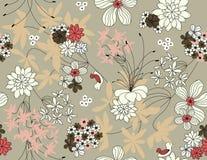 Vektornahtloses mit Blumenmuster Lizenzfreie Stockbilder