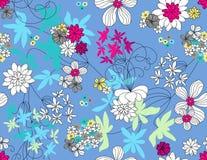 Vektornahtloses mit Blumenmuster Stockfotos