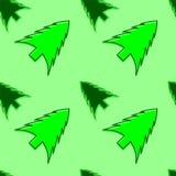Vektornahtloses Muster des Weihnachtsbaums Stockbild