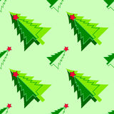 Vektornahtloses Muster des Weihnachtsbaums Stockfoto