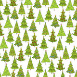 Vektornahtloses Muster des Weihnachtsbaums Schablone für Postkarten Lizenzfreie Stockbilder