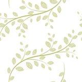 Vektornahtloses Muster mit Blättern Stockfoto