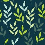 Vektornahtloses Muster mit Blättern Lizenzfreie Stockfotos