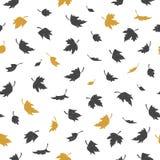Vektornahtloses Muster mit Blättern Lizenzfreies Stockbild