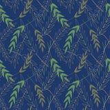 Vektornahtloses Muster mit Blättern Nahtloses Muster, das als Tapete benutzt werden kann, textil vektor abbildung