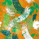 Vektornahtloses Muster mit Blumen Lizenzfreie Stockfotos