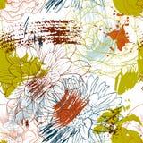 Vektornahtloses Muster mit Blumen Stockfotos