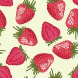 Vektornahtloses Muster mit Erdbeeren Lizenzfreie Stockbilder