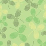 Vektornahtloses Muster mit grünen Blättern Stockbilder
