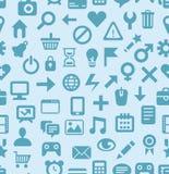 Vektornahtloses Muster mit Technologieikonen Lizenzfreie Stockfotografie
