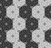 Vektornahtloses Schwarzweiss-Muster lizenzfreie abbildung