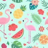 Vektornahtloses tropisches Muster Stockfotos