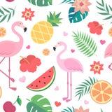 Vektornahtloses tropisches Muster Stockbild