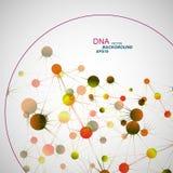 VektorNetwork Connection und DNA eps10 Lizenzfreie Stockfotos
