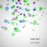 VektorNetwork Connection und DNA eps10 Stockfoto