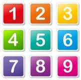 Vektornummeretiketter Royaltyfri Bild