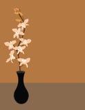Vektororchidee in einem Vase Lizenzfreies Stockbild