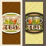 Vektororienteringar för te vektor illustrationer