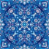 Vektorpaisley orientalisk sjalett, kudde, filtdesign Royaltyfri Fotografi
