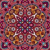 Vektorpaisley orientalisk sjalett, kudde, filtdesign Royaltyfria Foton