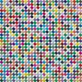 Vektorpalette 484 verschiedene Farben chaotisch zerstreut in eine Form des verdrängten Kreises lizenzfreie abbildung