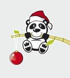 Vektorpanda mit Bambus Lizenzfreie Stockfotos