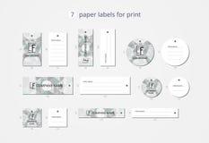 Vektorpapier-Kleidungsaufkleber für Druck mit geometrischen Kürbisen des Musters Stockfotos