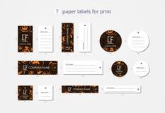 Vektorpapier-Kleidungsaufkleber für Druck mit glücklichem Kürbis des Musters Stockfoto