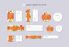 Vektorpapier-Kleidungsaufkleber für Druck mit Musterguave und -blume Stockbild