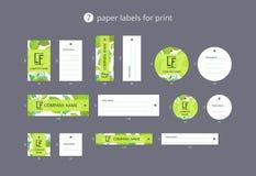 Vektorpapier-Kleidungsaufkleber für Druck mit Musterkalk und -blume Stockfotografie