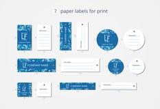 Vektorpapier-Kleidungsaufkleber für Druck mit Musterwinterhimmel Stockfotografie